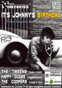 9 октября - клуб РЕПОРТЕР «It's Johnny's Birthday»